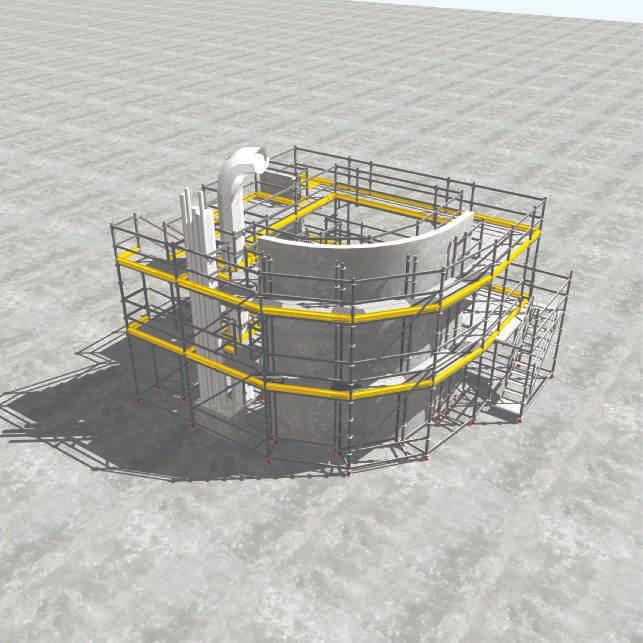 Framed scaffolding Sprint 75